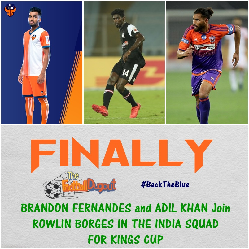 Brandon Fernandes and Adil Khan Finally get India call up under Igor Stimac