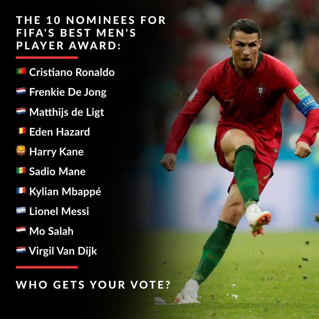 FIFA have released the ten nominees for the Best Men's Player – Who are you backing to win ?